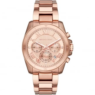 Ladies Rose Gold Brecken Chronograph Watch MK6367