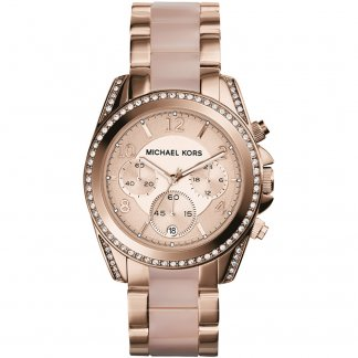 Ladies Rose Gold Coloured Blair Watch MK5943