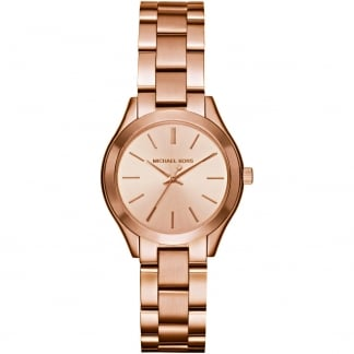 Ladies Rose Gold Mini Slim Runway Watch MK3513