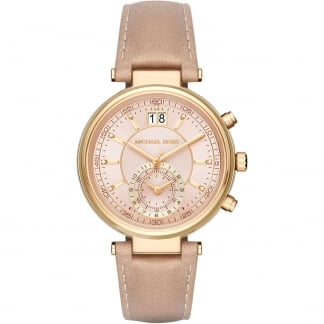 Ladies Sawyer Peanut Leather Chronograph Watch MK2529