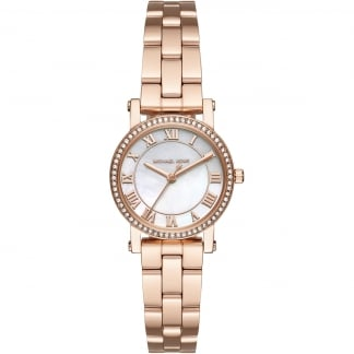 Ladies Rose Gold Petite Norie Glitz Watch