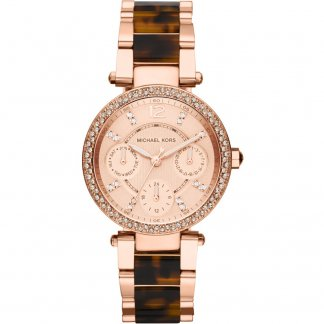 Ladies Rose Gold Plated Day/Date Parker Watch MK5841