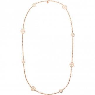 Rose Gold Plated Logo Necklace MKJ4480791