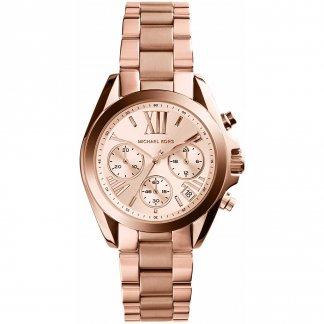 Ladies Rose Gold Plated Mini Bradshaw Watch MK5799