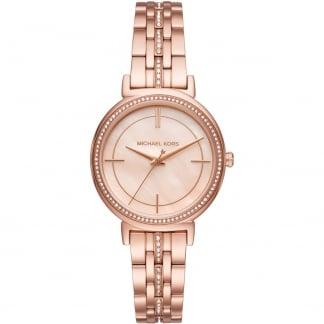 Ladies Rose Gold Stone Set Cinthia Watch MK3643