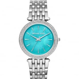 Ladies Steel Darci Glitz Turquoise Dial Watch MK3515