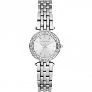 Ladies Silver Tone Petite Darci Watch MK3294