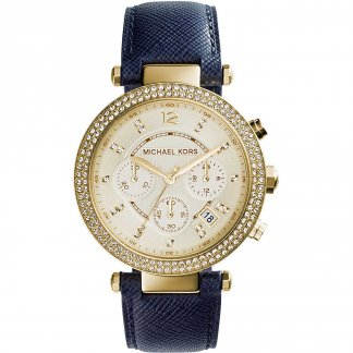 Ladies Stone Set Dial & Bezel Parker Watch