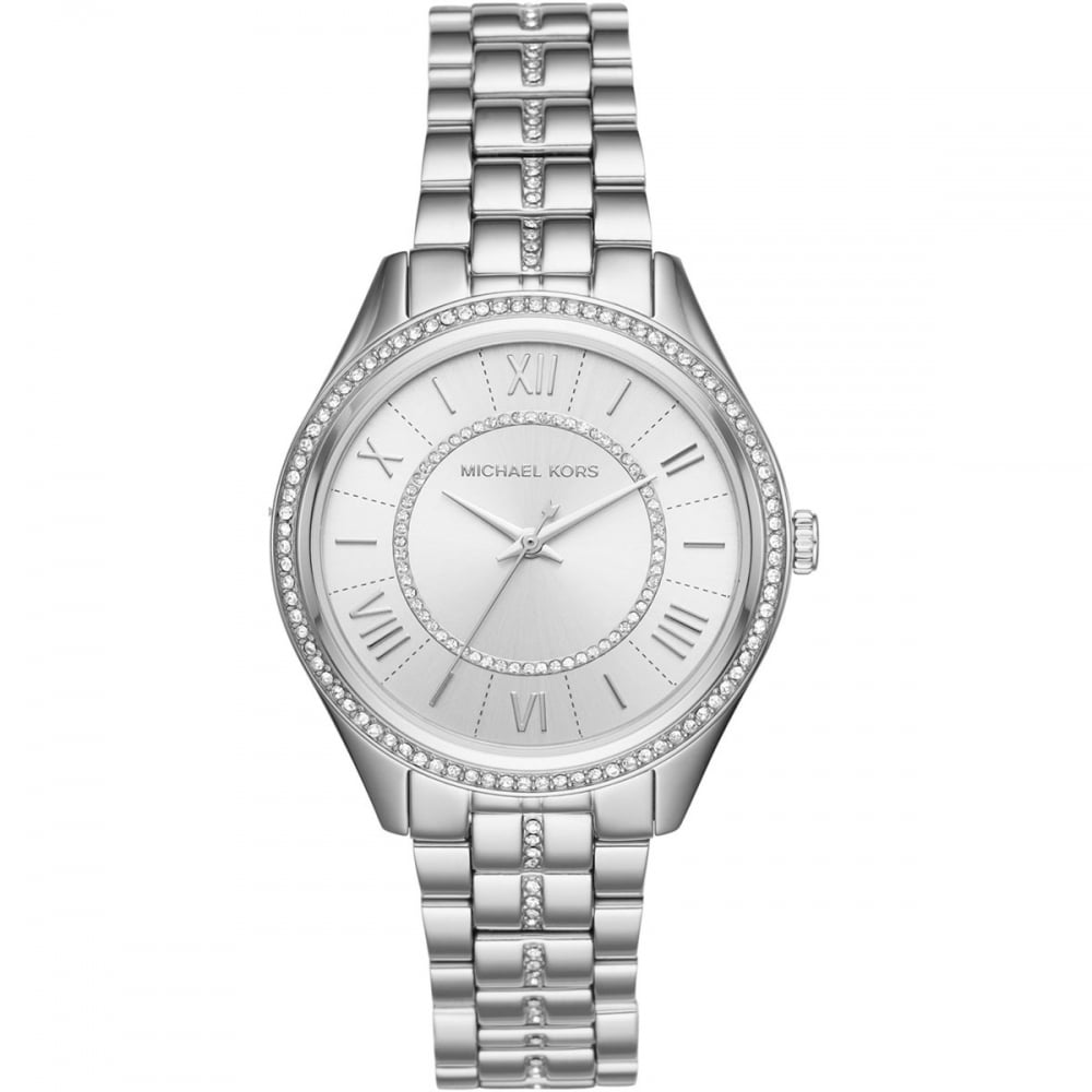 e6109f5b741e Michael Kors Ladies Stone Set Silver Lauryn Watch - Watches from ...