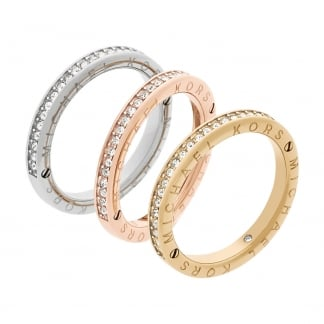 Ladies Tri Colour Ring Trio