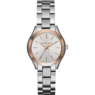 Ladies Two Tone Mini Slim Runway Watch MK3514