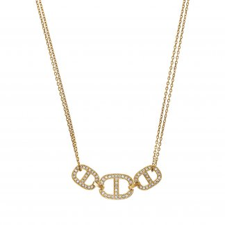 Maritime Gold Tone Necklace