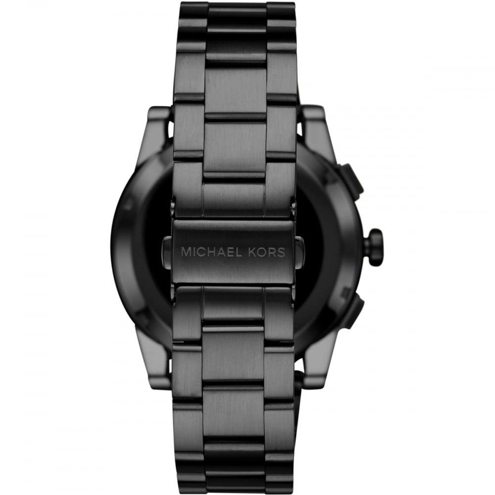 5c7bf6b5ec06 Michael Kors Access Grayson Black Touchscreen Smartwatch - Watches ...