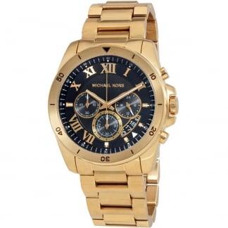 Men's Brecken Gold Tone Chronograph Watch MK8481