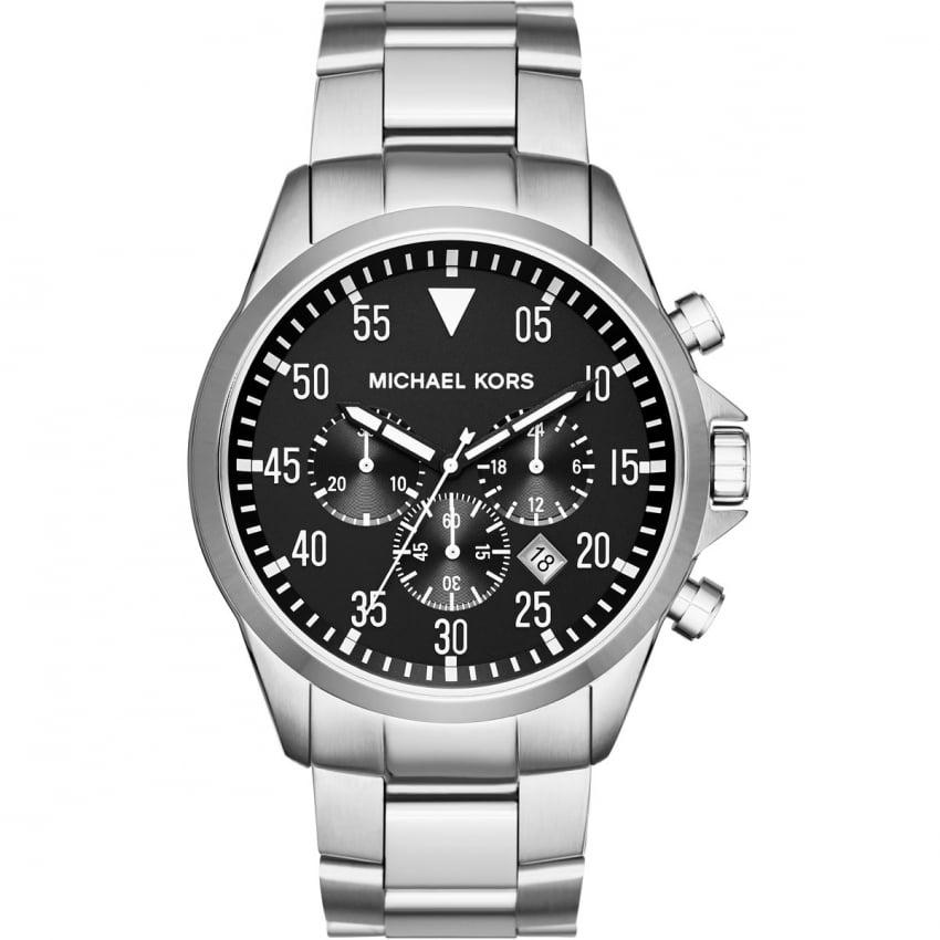 Michael Kors Men's Gage Silver Tone Chronograph Watch MK8413