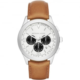Men's Gareth Tan Leather Chronograph Watch