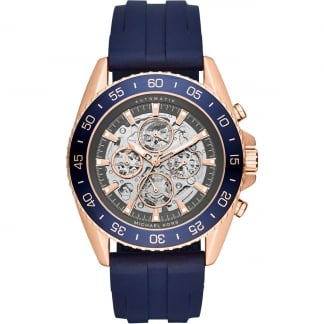 Men's Jetmaster Automatic Blue Rubber Watch MK9025