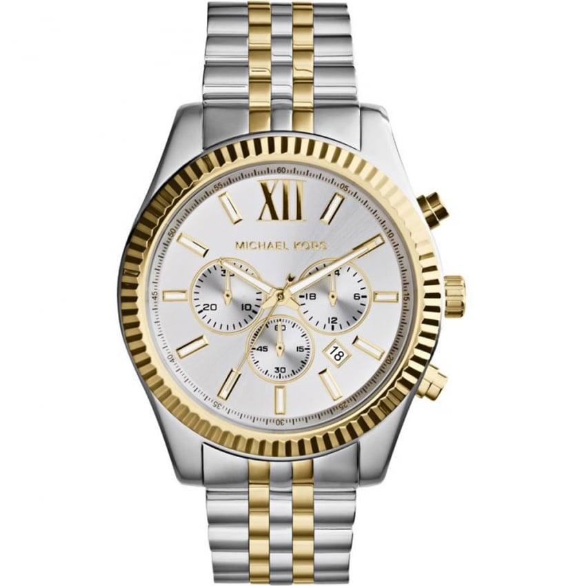Michael Kors Men's Lexington Two Tone Chronograph Watch MK8344