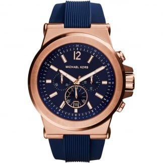 Men's Rose Gold Dylan Chronograph Watch MK8295
