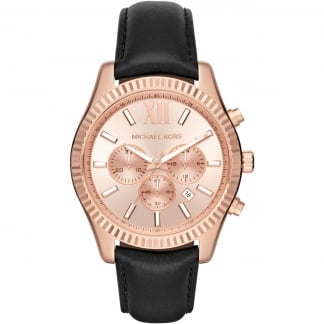 Men's Rose Gold Lexington Chronograph Strap Watch