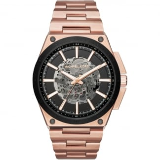 Men's Wilder Rose PVD Automatic Skeleton Watch MK9022