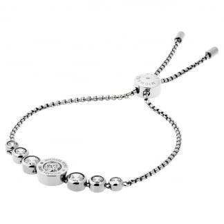 Silver MK Logo Slider Bracelet MKJ5335040
