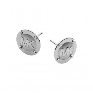 MK Logo Stud Earrings
