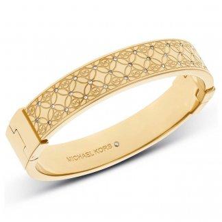 Monogram Gold Tone Crystal Set Bangle MKJ4471710