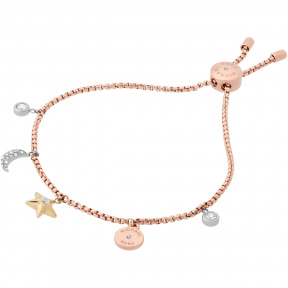 Moon and Star Toggle Bracelet