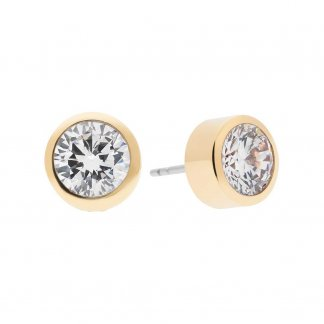 Park Avenue Gold Crystal Stud Earrings
