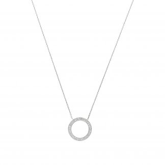 Pave Circle Necklace MKJ3295040