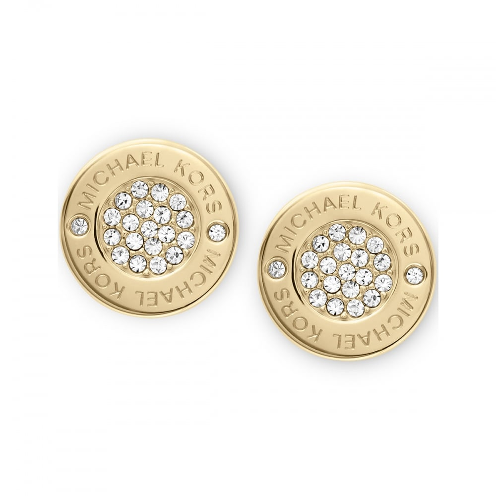 42ece3fc16bf Michael Kors Plaque Gold Plated Stud Earrings Product Code  MKJ3351710