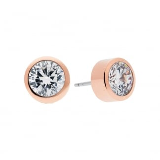 Rose Gold and Cubic Zirconia Stud Earrings MKJ4706791