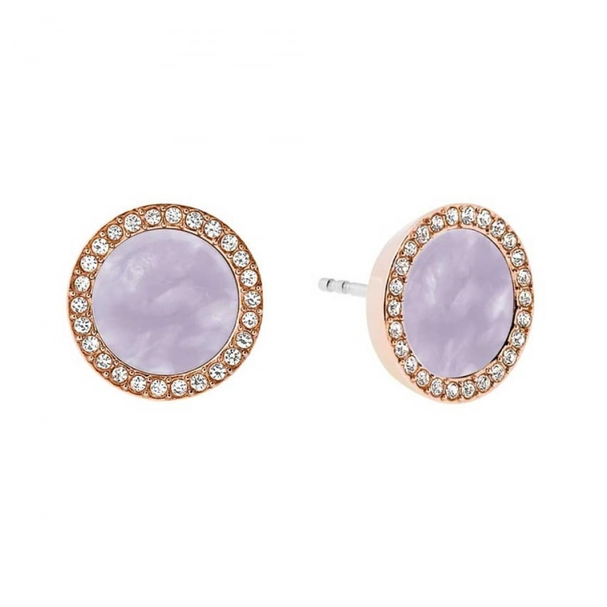 Michael Kors Rose Gold and Lavender Earrings Studs MKJ5189791
