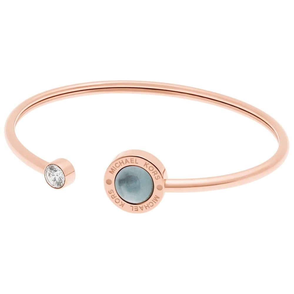 michael gold jewellery pearl grey kors bangle from with image bangles open rose