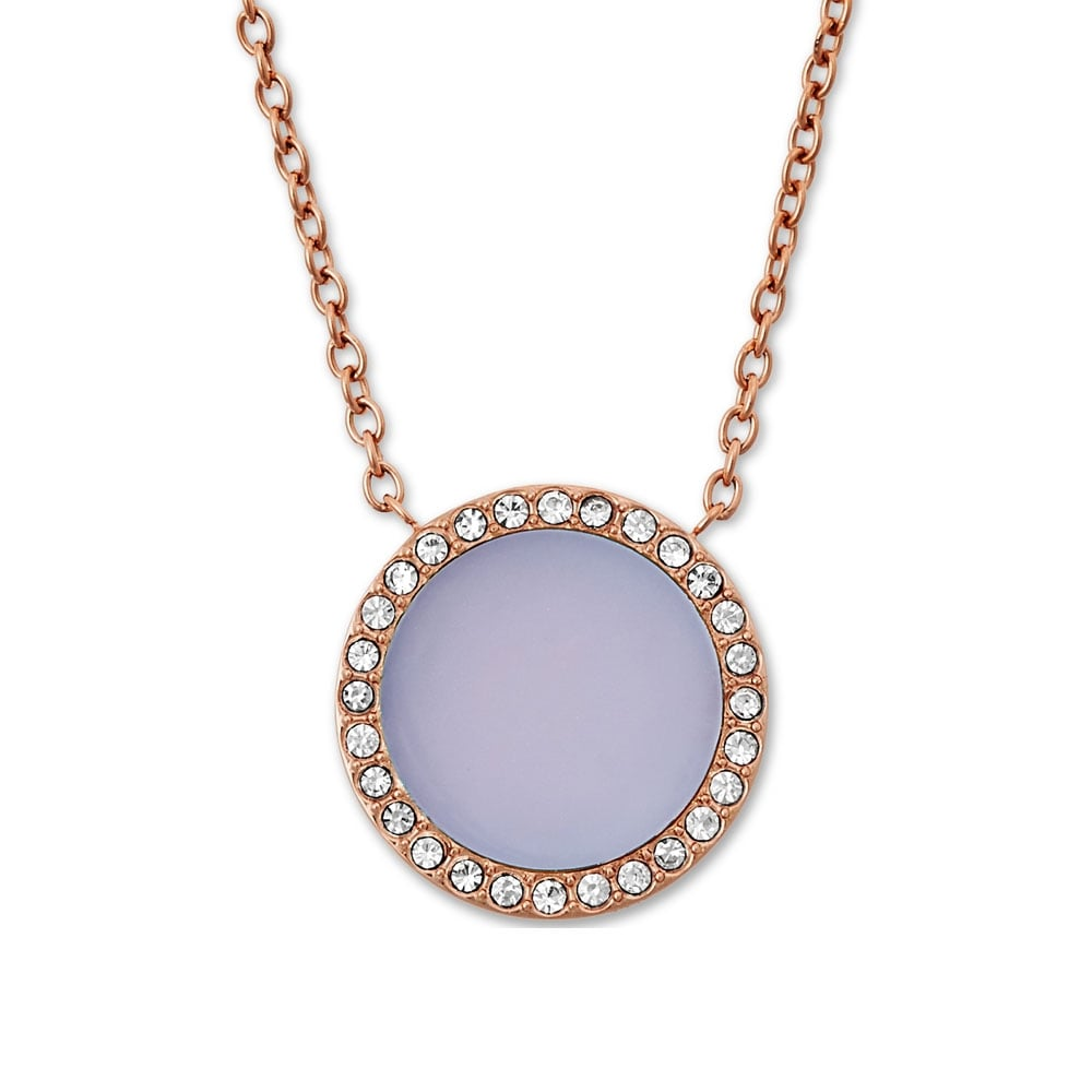 cleo necklace res hi stone purple