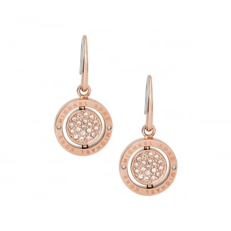 Rose Gold Flip Glitz Reversible Drop Earrings MKJ5652791