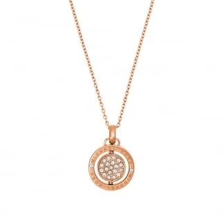 Rose Gold Flip Glitz Reversible Necklace MKJ5658791