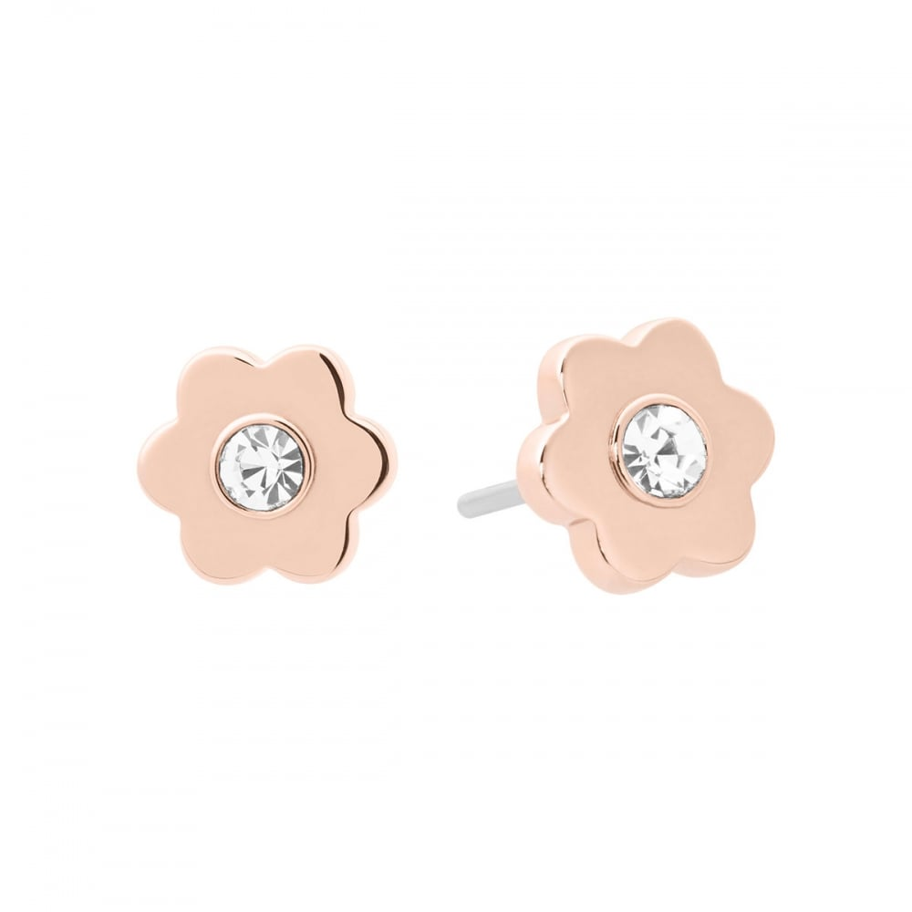 79798509124 Michael Kors Rose Gold Flower Studs - Jewellery from Francis   Gaye ...