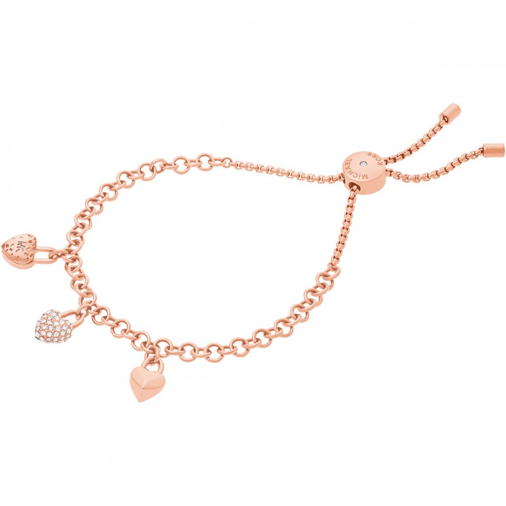 23e8f6215051 Michael Kors Rose Gold Heart Charm Bracelet - Jewellery from Francis ...