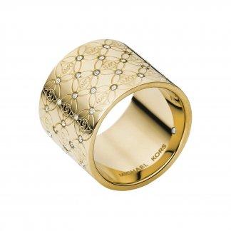 Rose Gold Heritage Monogram Ring MKJ4288710