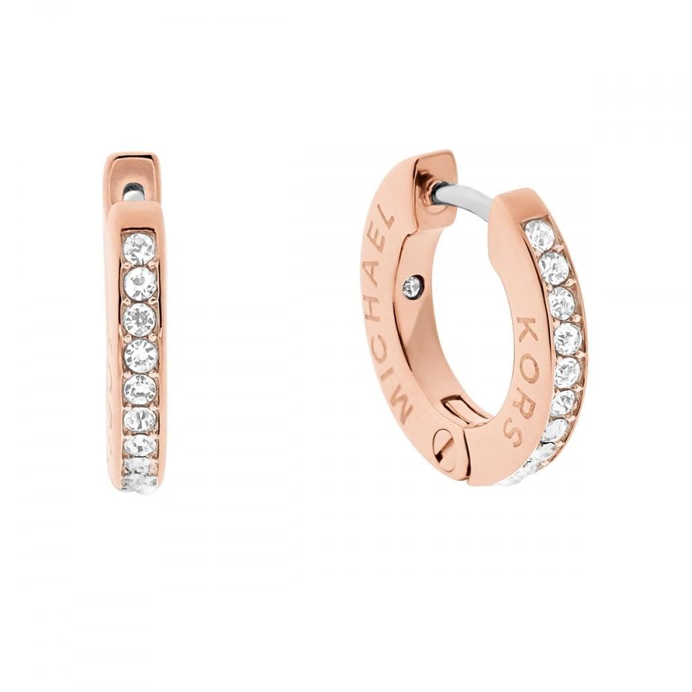 af08a1c995a1 Michael Kors Rose Gold Hoop Earrings - Jewellery from Francis   Gaye ...