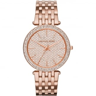 Ladies Darci Rose Gold Pavé Dial Watch