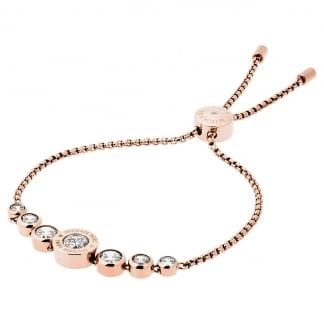 Rose Gold MK Logo Slider Bracelet MKJ5336791