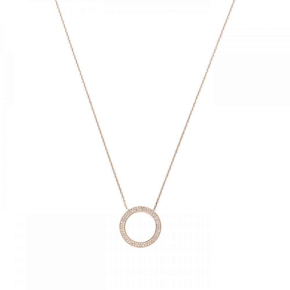 Michael Kors Rose Gold Plated Crystal Circle Pendant Product Code   MKJ3296791 7abd9cf38