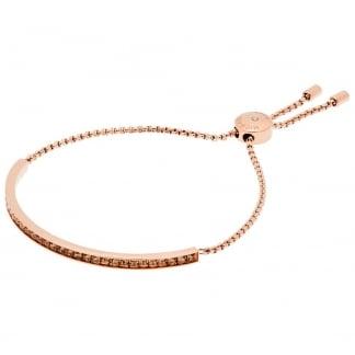 Rose Gold Plated Stone Set Slider Bracelet MKJ5797791