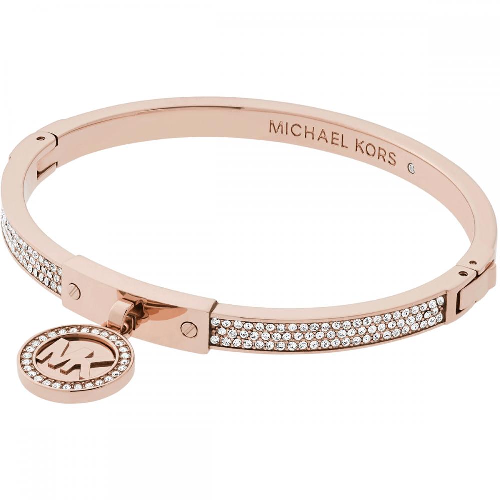 Michael Kors Rose Gold Stone Set Logo Heritage Bracelet Product Code   MKJ5978791 7d0db4854275
