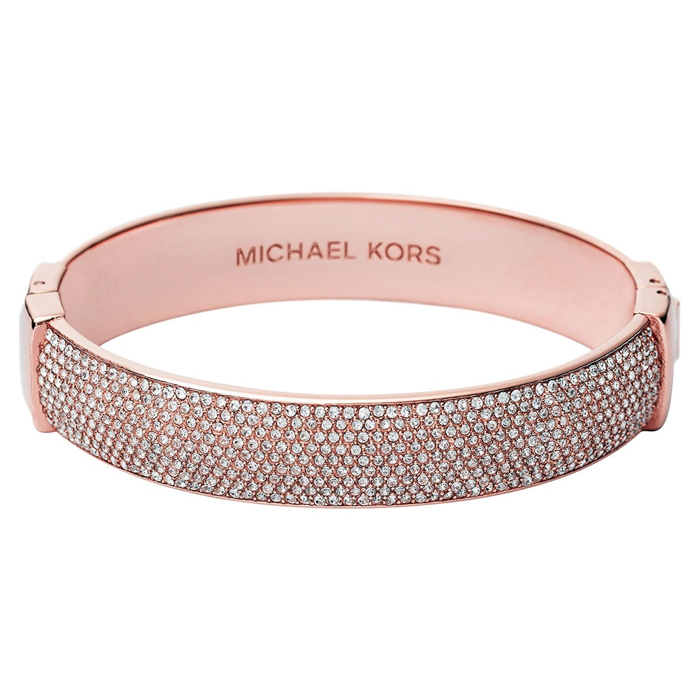 Michael Kors Rose Gold Tone Pave Set Steel Bangle - Jewellery from ...