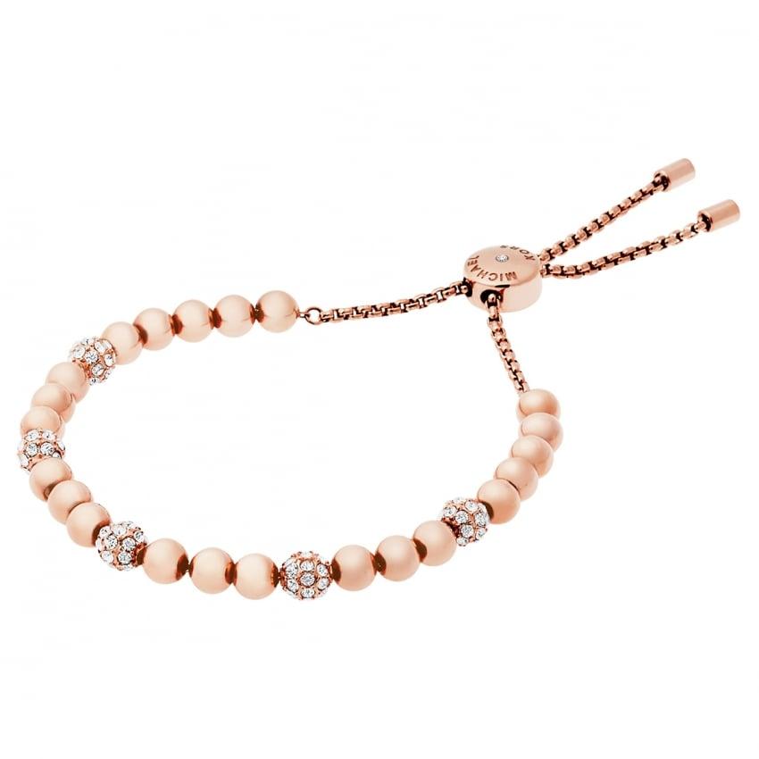 Michael Kors Rose Gold Wisteria Pave Slider Bracelet MKJ5220791