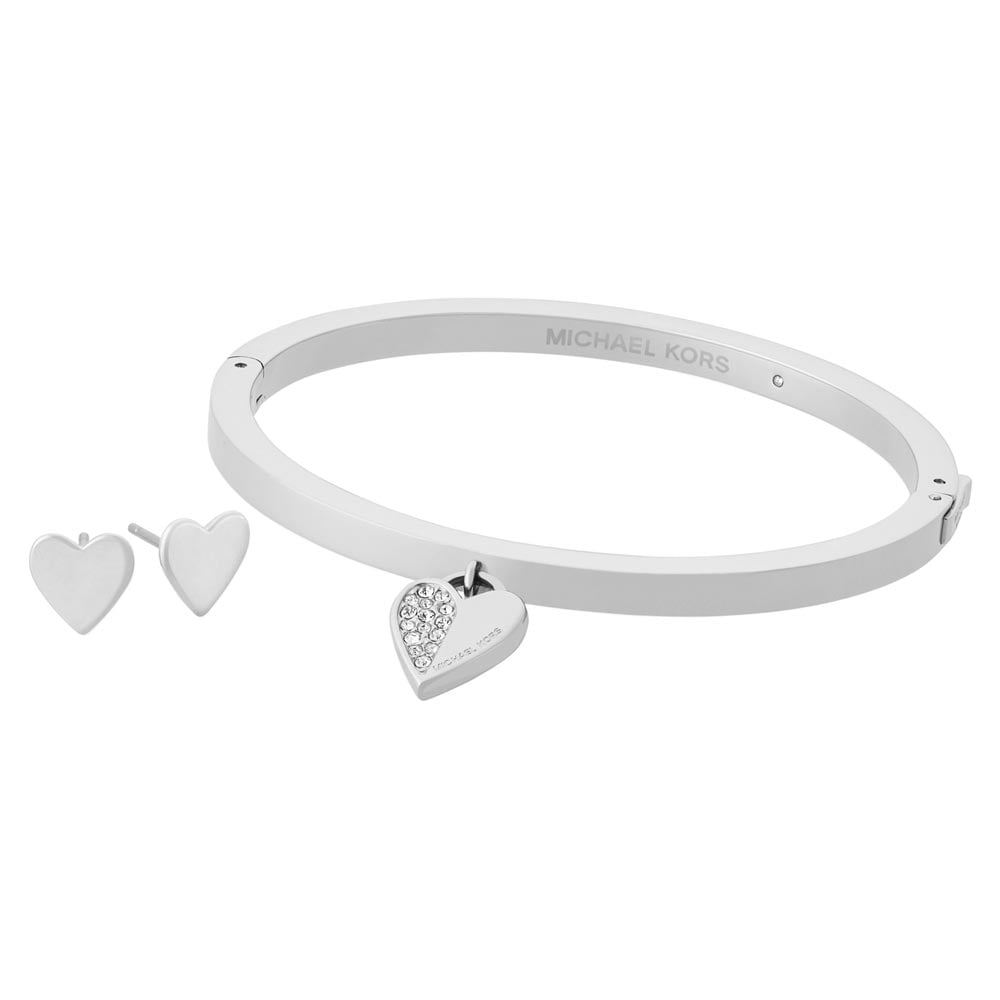 81d13fd34a761 Michael Kors Silver Earring and Bangle Heart Set Product Code  MKJ5938040